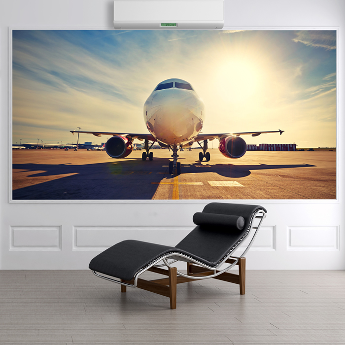Airplane Sunrise Wall Mural Aeroplane Photo Wallpaper