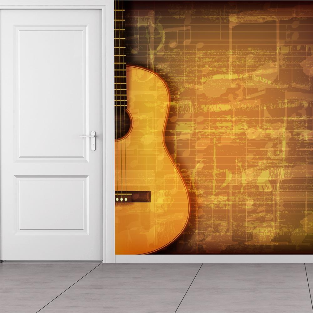 guitar music sheet wall mural vintage music photo wallpaper bedroom home decor ebay. Black Bedroom Furniture Sets. Home Design Ideas
