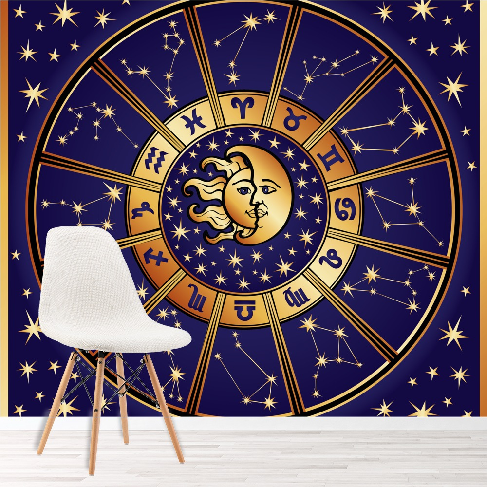 Details About Sun Moon Stars Wall Mural Zodiac Signs Photo Wallpaper Bedroom Home Decor