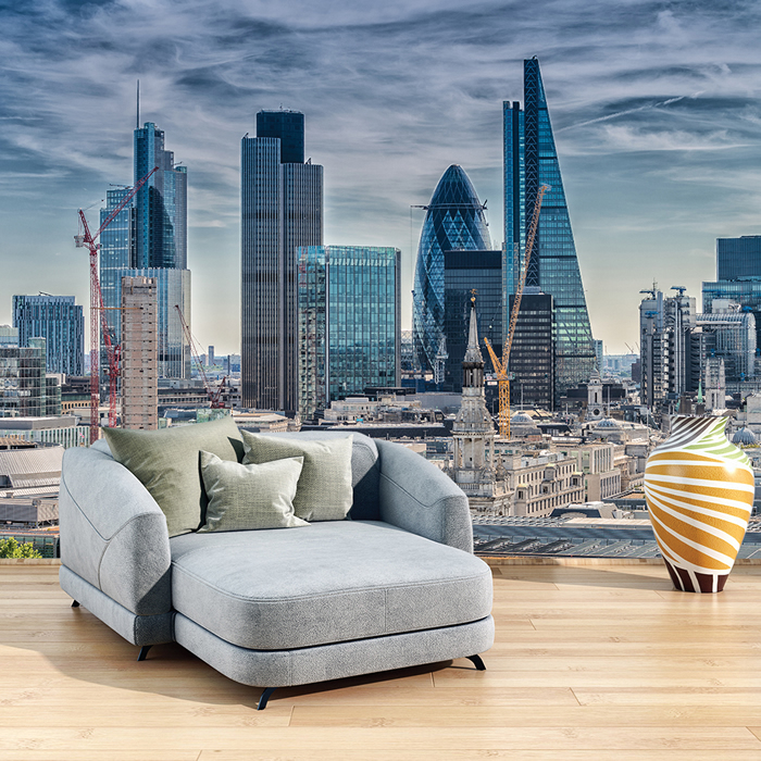 London Cityscape Wall Mural City Skyline Photo Wallpaper Office
