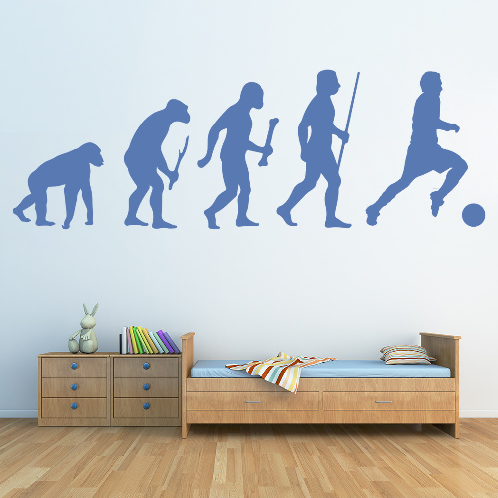 Evolution Football Wall Sticker Sports Wall Decal Boys Bedroom Home ...