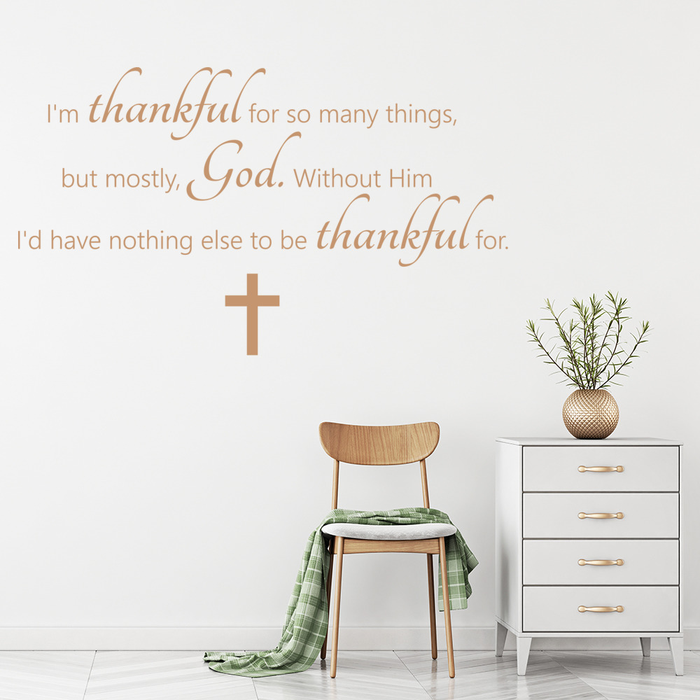 I\'m Thankful For So Many Things Wall Sticker Bible Wall Decal ...