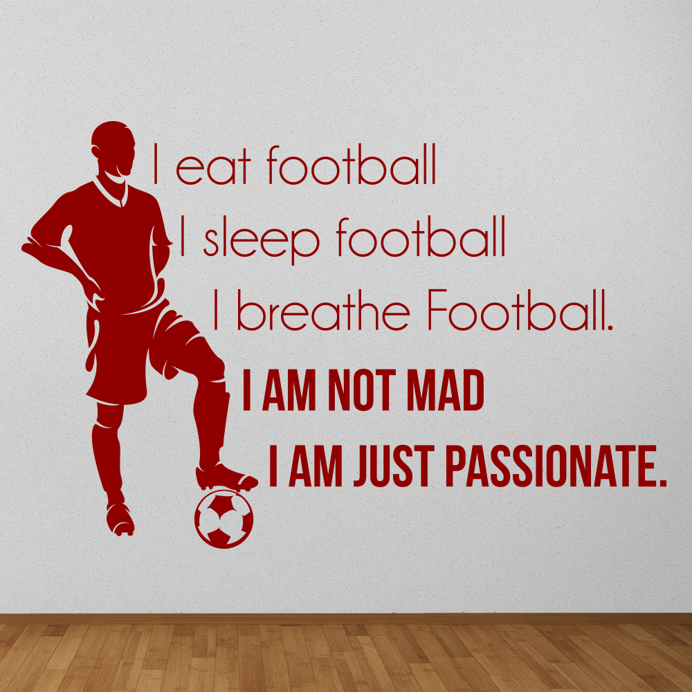 Eat Sleep Football Wall Sticker Sports Quote Wall Decal Boys Bedroom Home  Decor