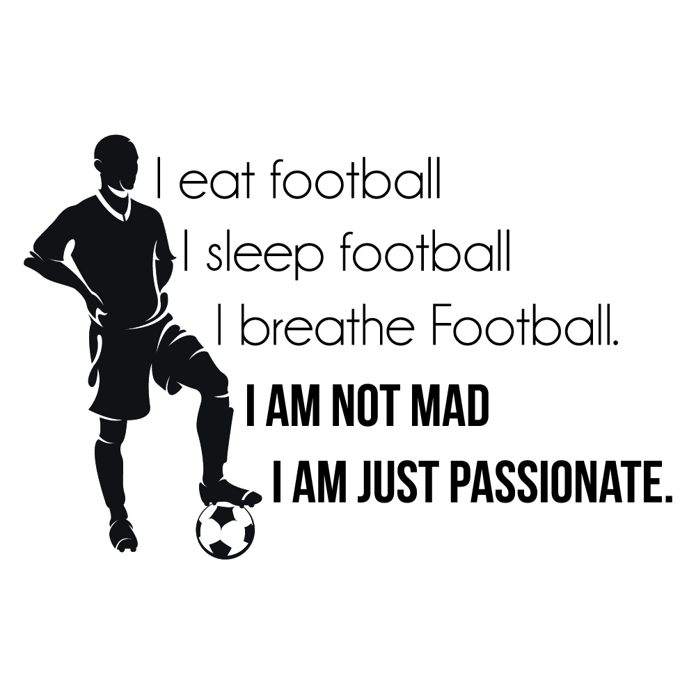 Sports Quotes Eat Sleep Football Wall Sticker Sports Quote Wall Decal Boys