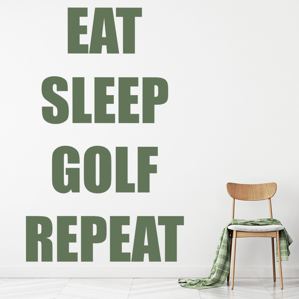 Eat sleep golf repeat sports quotes wall sticker sports art decals eat sleep golf repeat sports quotes wall sticker sports art decals decor amipublicfo Gallery