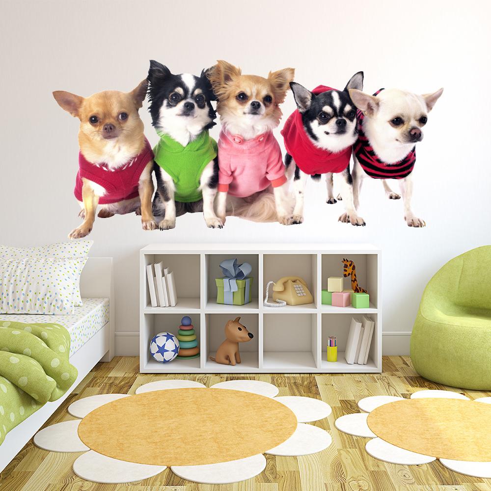 Chihuahua Dog Wall Sticker Chiwawa Puppy Animal Wall Decal