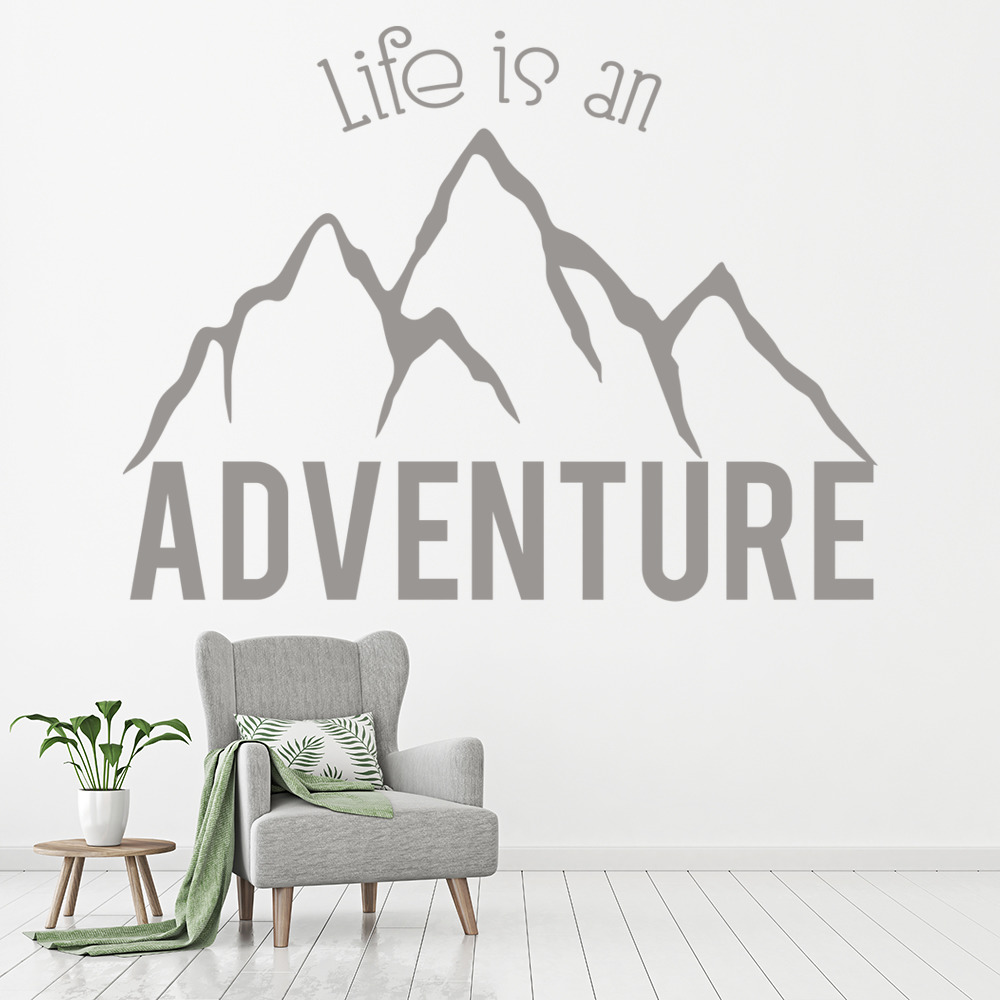 Life Is An Adventure Wall Sticker Mountain Quote Wall Decal Kitchen ...