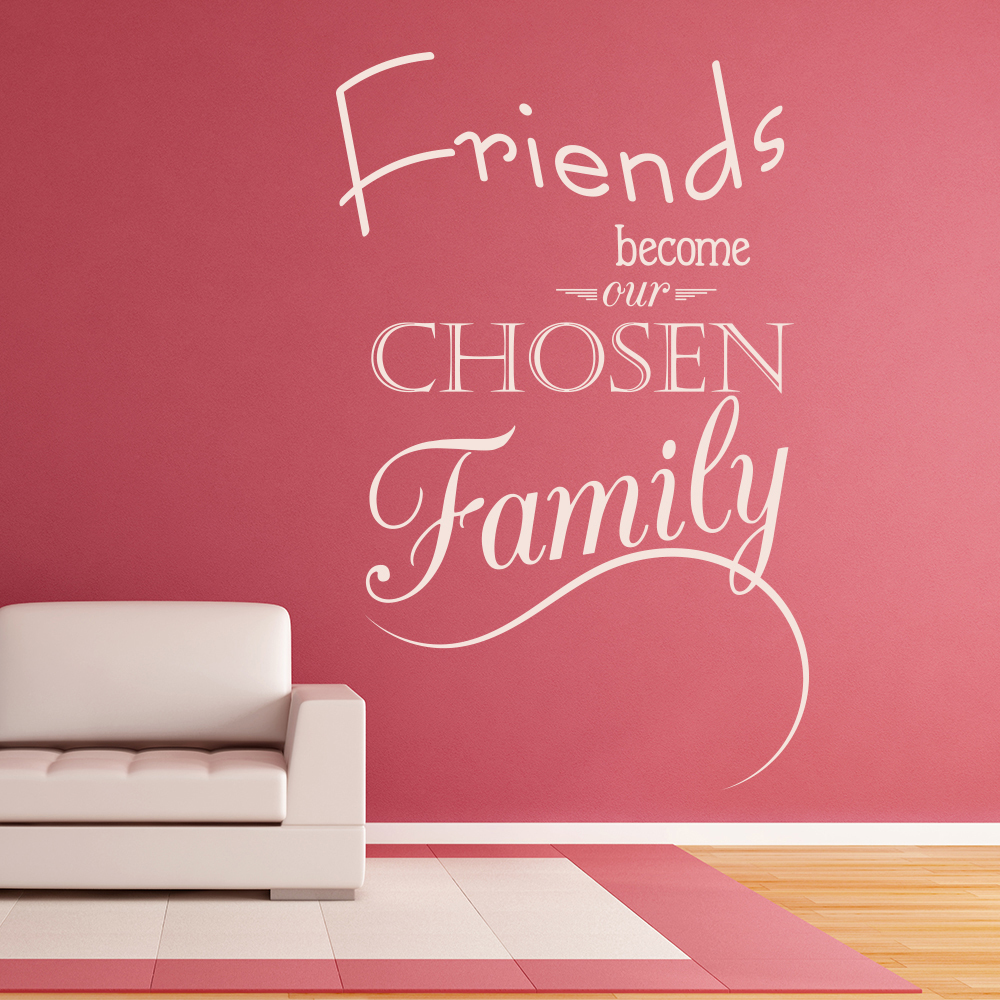 Friends become our chosen family quote inspirational wall sticker friends become our chosen family quote inspirational wall sticker home art decal amipublicfo Gallery