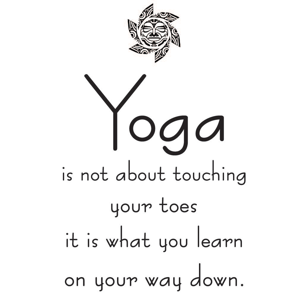 Touching Motivational Quotes: Touching Your Toes Wall Sticker Yoga Quote Wall Decal