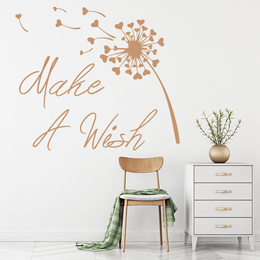 Make A Wish Wall Sticker Inspirational Quote Wall Decal Girls ...