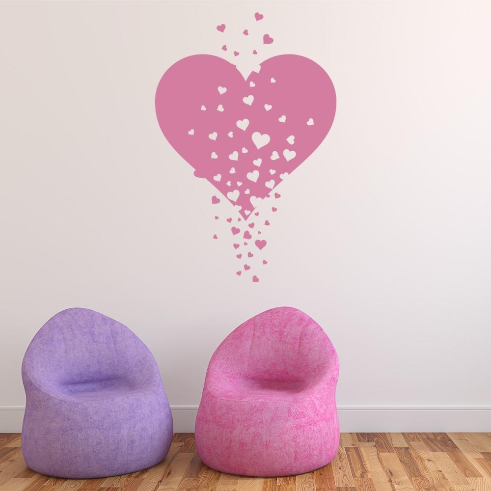 Love Heart Wall Sticker Nursery Wall Decal Girls Bedroom Home Decor ...