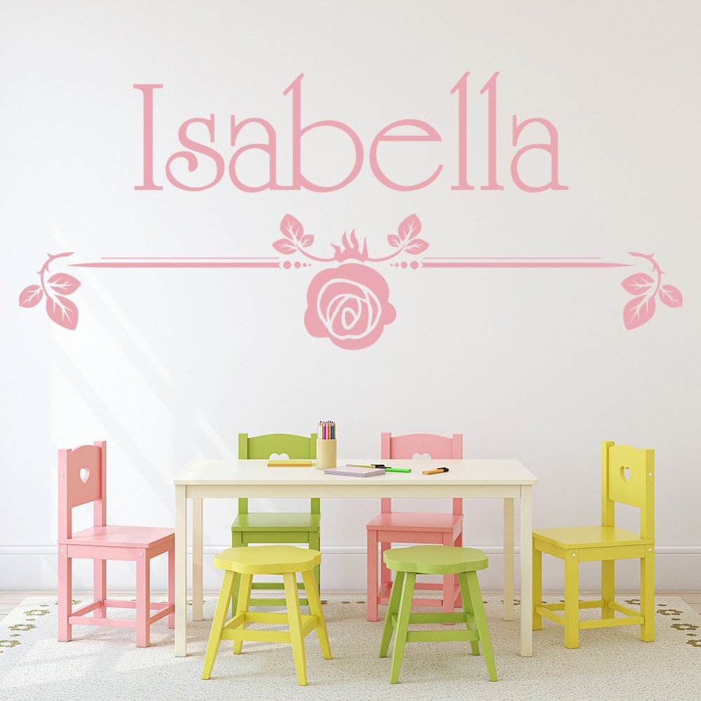 Personalised Name Flower Wall Sticker WS-44278
