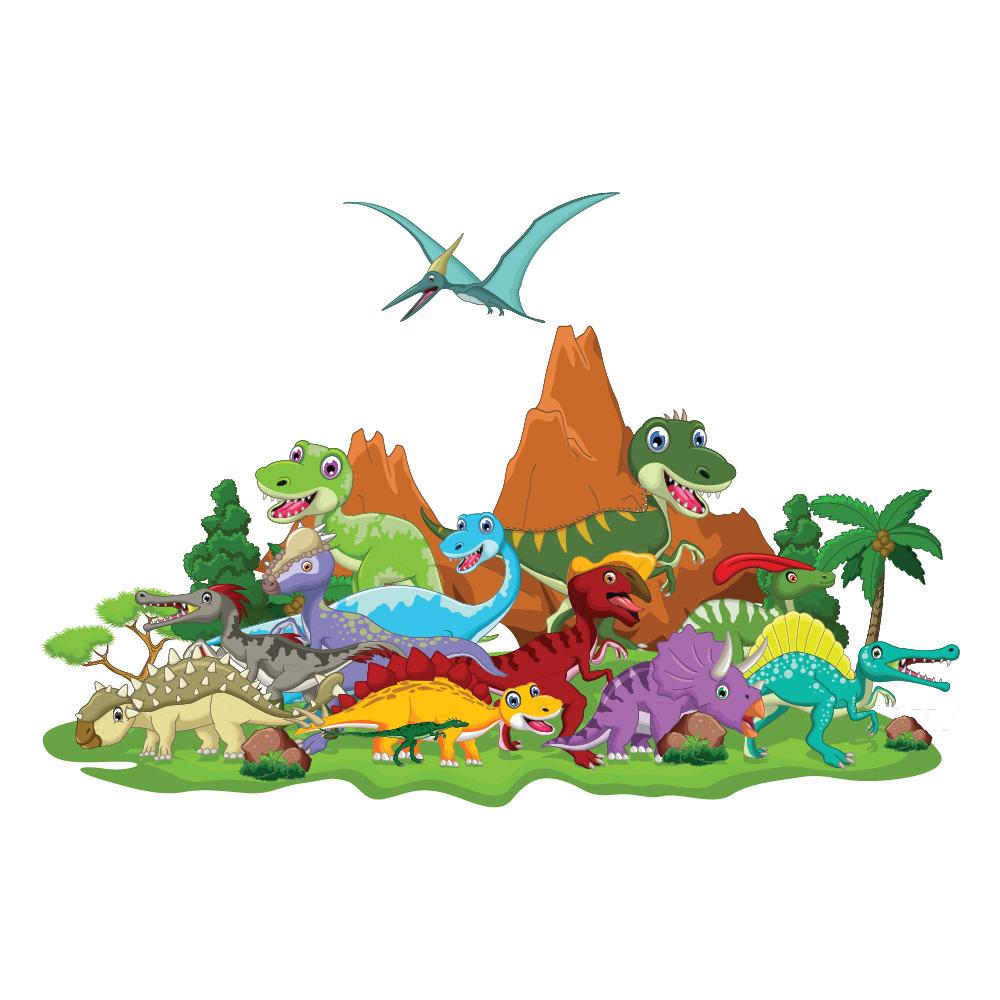 Dinosaur World Wall Sticker Jurassic Dino Wall Decal Kids