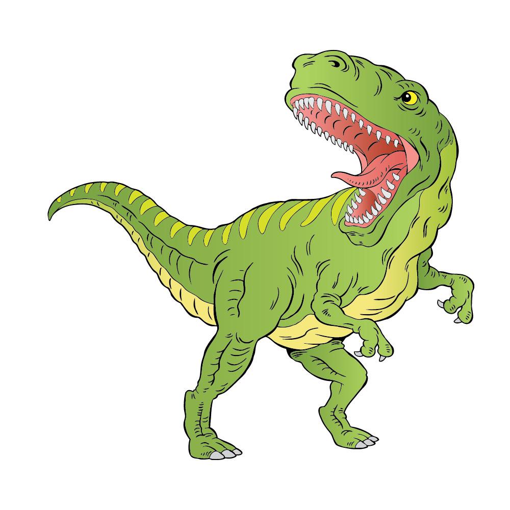 Home Décor Green T Rex Dinosaur Wall Sticker Ws 44939 Home Garden Gefradis Fr