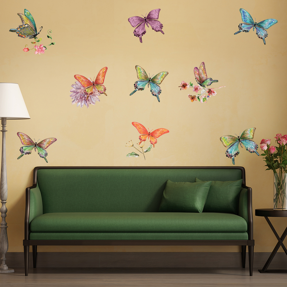 Vintage Style Butterflies Wall Sticker Set Butterfly Wall Decal ...