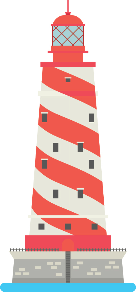 Red White Lighthouse Nautical Wall Sticker WS-46808