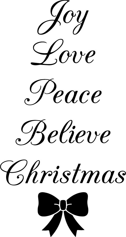 Christmas Family Friend Hope Joy Peace Love Wall Decal Vinyl Art Quote Decor C13