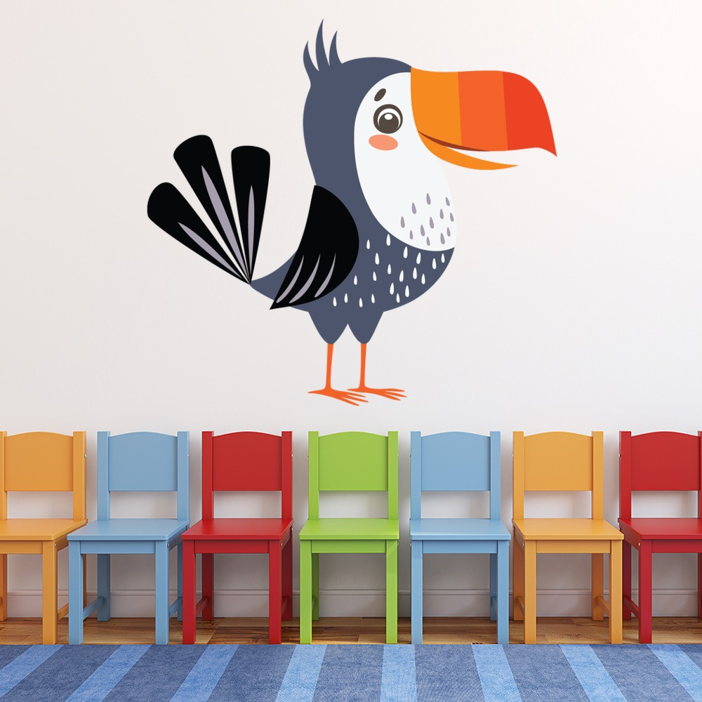Autocollant Toucan oiseau sticker 2 Taille:8 cm