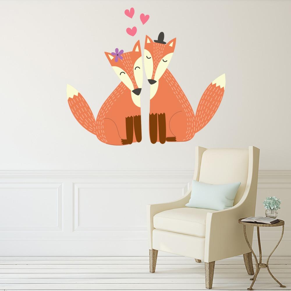 Woodland Fox Wall Decal Sticker Set WS-50850